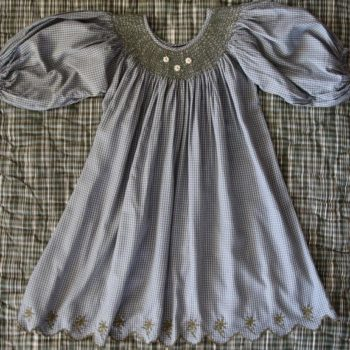 Bonjour Diary Blue Grey Butterfly Dress