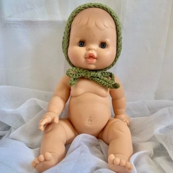 Dolls Baby Bonnet Olive Little French Heart