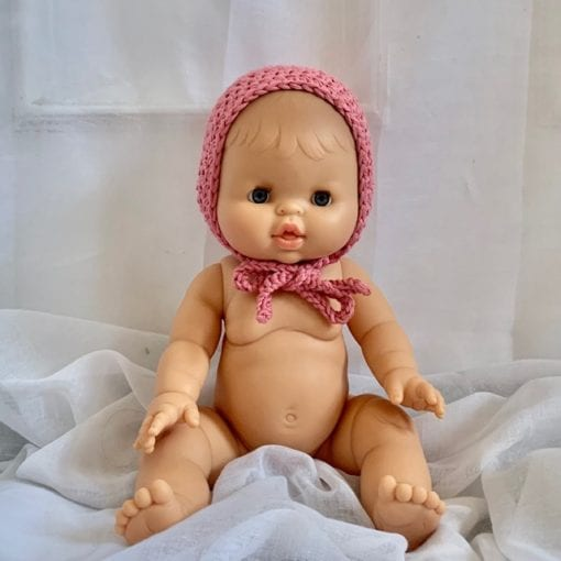 Dolls Baby Bonnet Rose