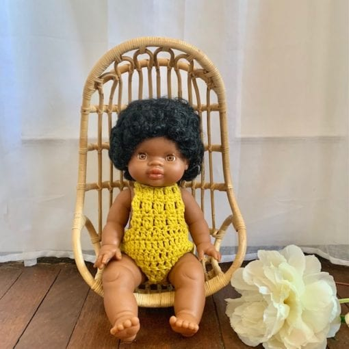 Dolls Romper Crocheted Marigold Little French Heart