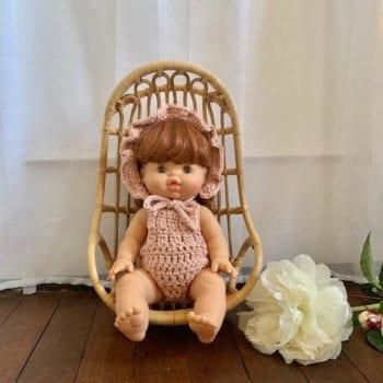 Dolls Ruffle Bonnet Crochet Magnolia 2