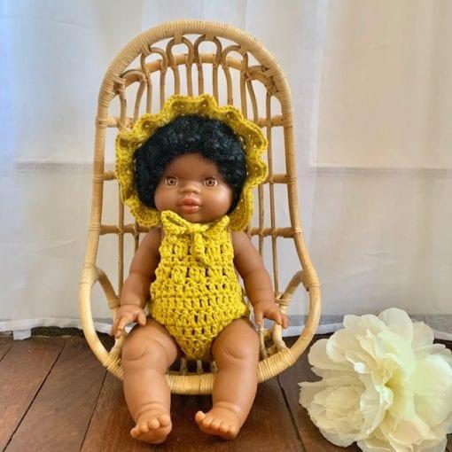 Dolls Ruffle Bonnet Marigold Little French Heart 2