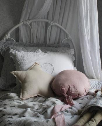 Linen Balloon Cushion Tearose Little French Heart