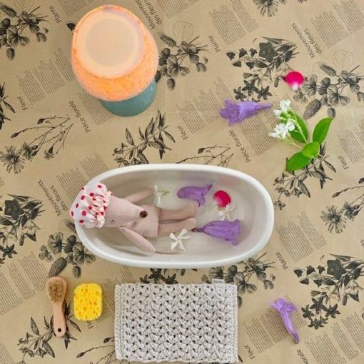Maileg Micro in bathtub Little French Heart