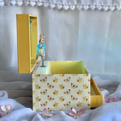 Music Box Peter Rabbit Butterflies Little French Heart