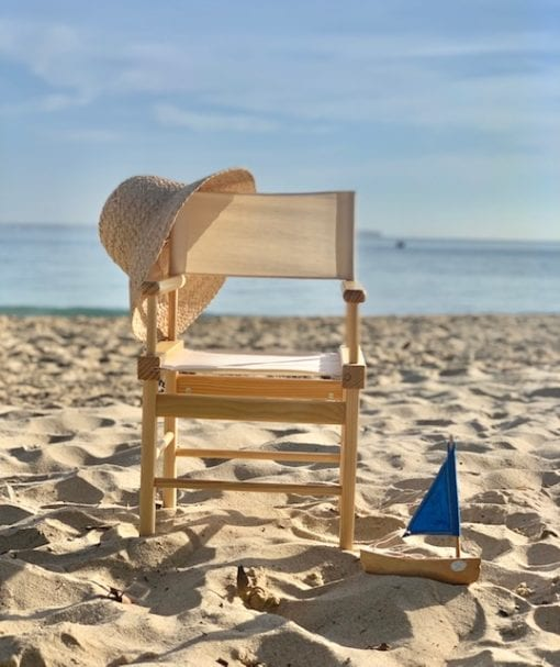 Directors Chair natural Little French Heart