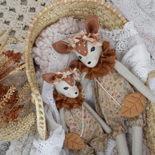 Forest Faune in French Antique Flower Romper