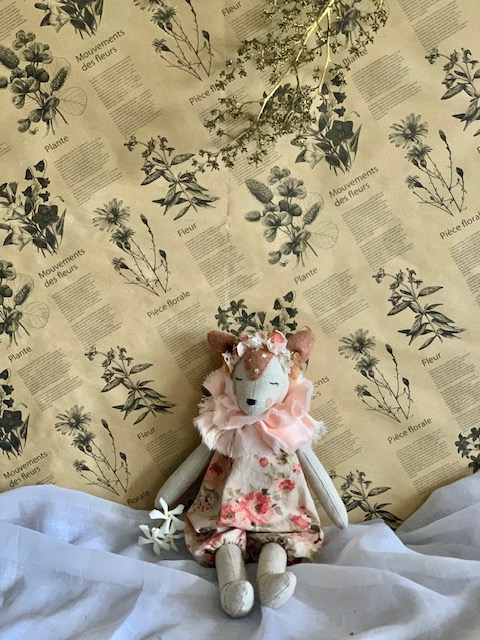 Forest Faune in French Summer Flower Romper Mini