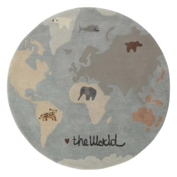 Tufted world rug little french heart