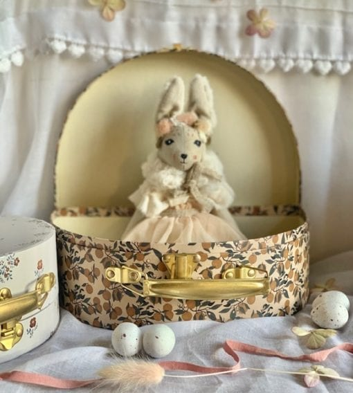 Bunnette in Tulle with Orangery Beige Storage Set Little French Heart