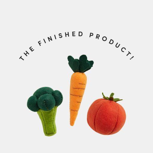 Olli Ella Felt Veggie Finished Products