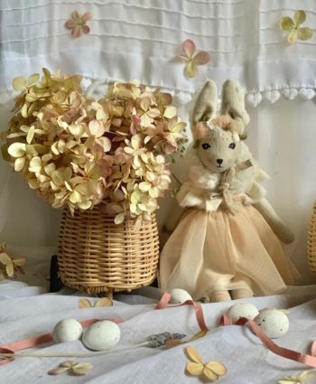 French Bunnette & basket Summer Tulle Mini