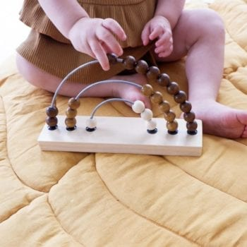Wooden Abacus Rainbow Natural Little French Heart
