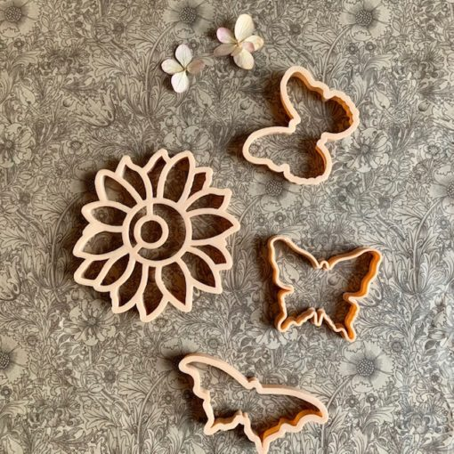 Butterflies and Sunflowers Eco Dough Cutters