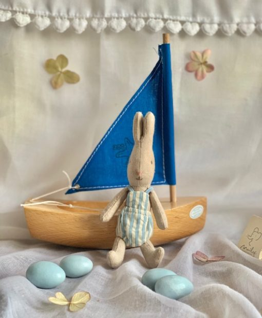 Little Toy Sailing Boat Little Bunny Blue