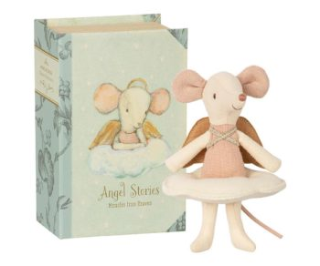 Maileg Big Sister Mouse In Book with Fairy