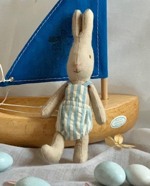 Toy Sailing Boat Blue with Bunny Micro