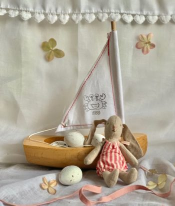 Toy Sailing Boat Little Bunny Rose
