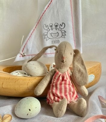 Toy Sailing Boat Little Bunny Rose Little French Heart