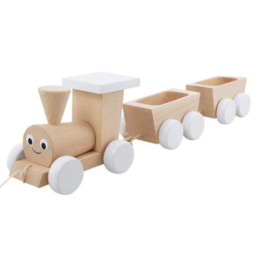 Wooden-Pull-Along-Train-White-Little-French-Heart