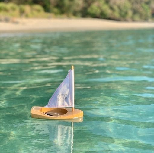 Wooden toy Boat Little French Heart