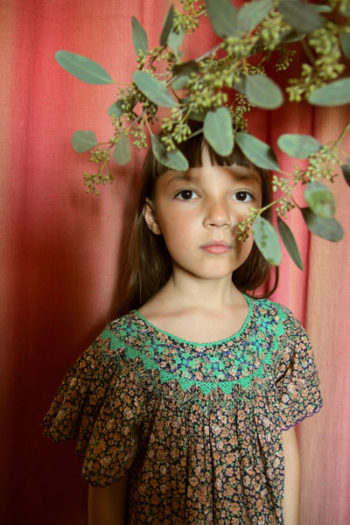 Bonjour Diary Little Violet Flowers Butterfly Dress