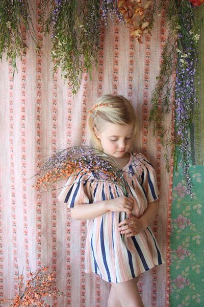 Bonjour Diary Butterfly Blouse Transat Stripes