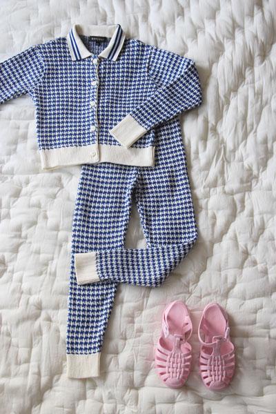Bonjour Diary Knitted Houndstooth Leggings