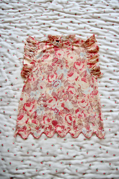 Bonjour Diary Faded Roses Flower Top