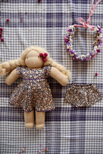 Bonjour Diary Doll Apron dress + Panty Little Violet
