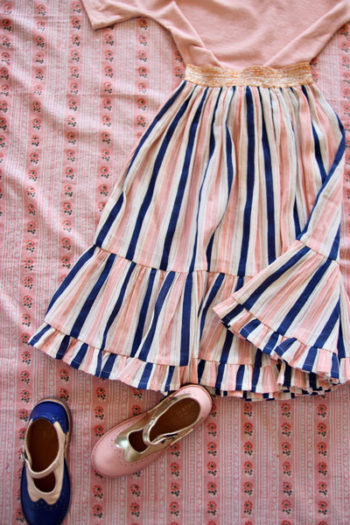 Bonjour Diary Long Skirt Transat Striped
