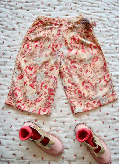 Bonjour Diary Faded Rose Sailor Pants