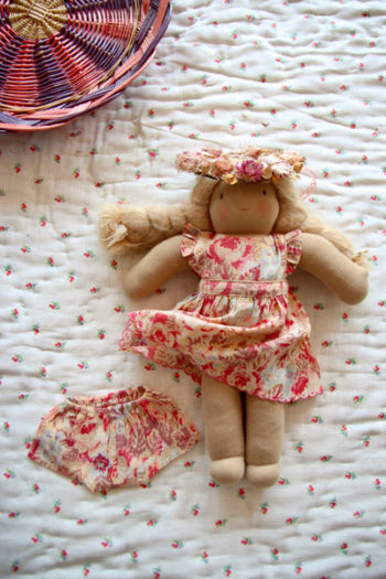 Bonjour Diary Dolls Dress Faded Roses