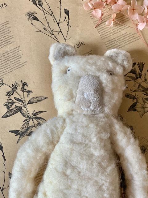 Sophie Digard Fuzzy Teddy Bear in Cream