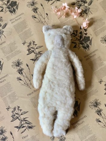 Sophie Digard Fuzzy Teddy Bear in Cream