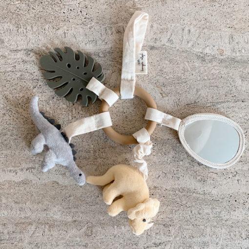 Kongeslojd-Baby-Activity-Ring-Dinosaur-Little-French-Heart