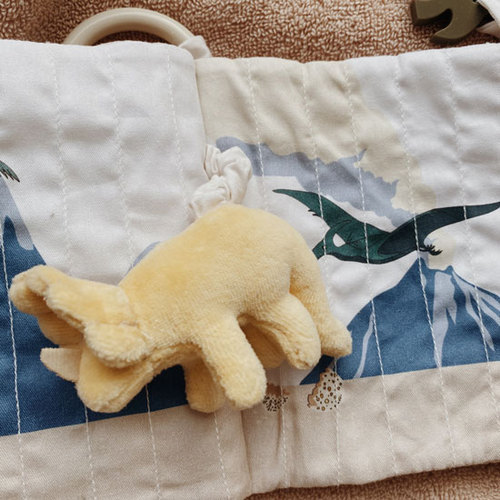 Kongesslojd-Baby-Fabric-Book-Dinosaur