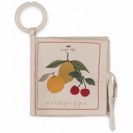 Kongesslojd-Baby-Fabric-Book-Fruit-Little-French-Heart-1