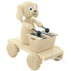 Traditional Wooden Pull Along Dog With Xylophone - Margot