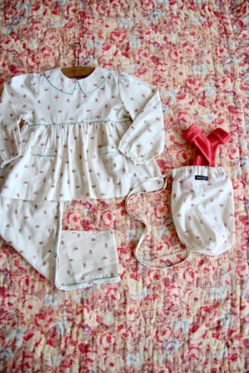 Bonjour Diary Pajama Set In Bag Little Flowers
