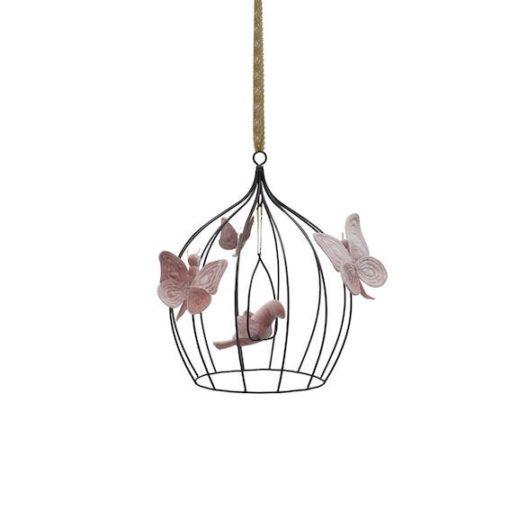 Numero 74 Heart Bohemian Birdcage Dusty Pink