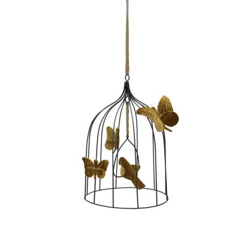 Numero 74 Heart Bohemian Birdcage Gold