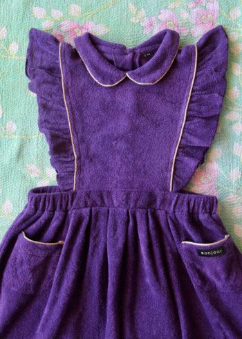 Bonjour Diary Apron Dress Purple Terry