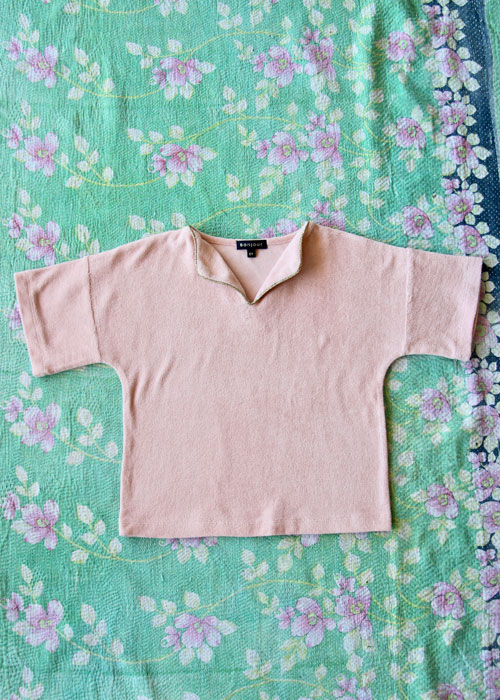 Bonjour Diary Pink Terry Top