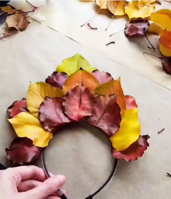 Heart of Blooms Autumn Leaf Fairy Crown