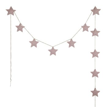 Numero 74 Mini Star Padded Garland Dusty Pink
