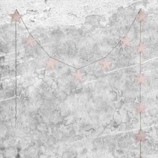 Numero 74 Mini Star Padded Garland Powder