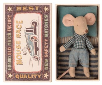 Maileg Little Brother Mouse in Box Little French Heart