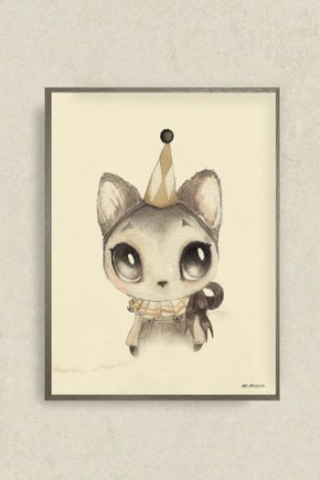 Mrs-Mighetto-Dear Meow Poster Little French Heart