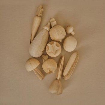 Raduga Grez Wooden Vegetable Set Natural